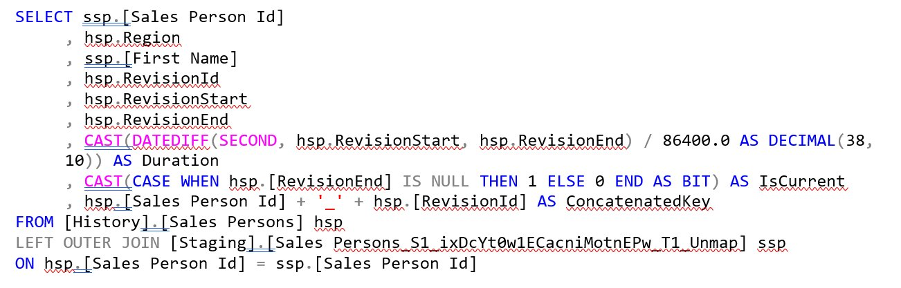 SQL Statement Combine Non-Historical and Historical Data